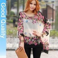 New-arrival-2015-bohemia-flower-blouse-shirt-print-stripe-casual-batwing-chiffon-blusa-tops-3xl-4xl.jpg_200x200