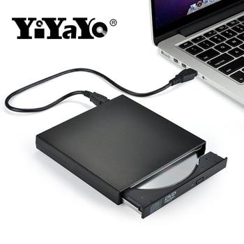 YiYaYo USB 2,0 CD RW горелки оптический привод Внешний DVD Combo CD/проигрыватель DVD rom portátil для портативных компьютеров оконные рамы 7/8
