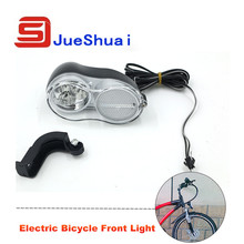 36V Electric Bike Front Light Mount Frame 200CM Wire Headlamp Bright Head Lamp Black Ebike Ciclismo Bicycle Light