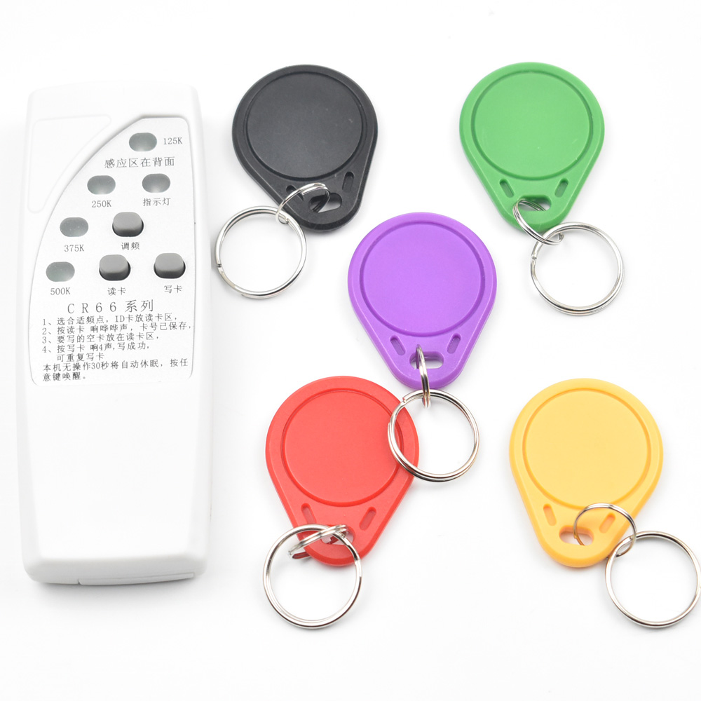 4 frequency RFID Copier/ Duplicator/ Cloner ID EM reader & writer+ 5pcs EM4305 T5577  writable keyfob цепочки taya lx цепочка