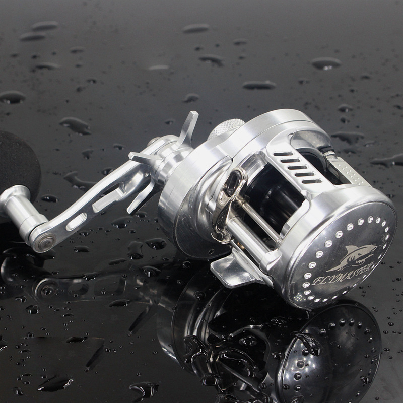 6.2:1 9+1BB Baitcasting Rover Drum Saltwater Fishing Reel Saltwater Sea Fishing Reels Bait Casting Surfcasting Drum Reel HG200 new 12bb left right handle drum saltwater fishing reel baitcasting saltwater sea fishing reels bait casting cast drum wheel