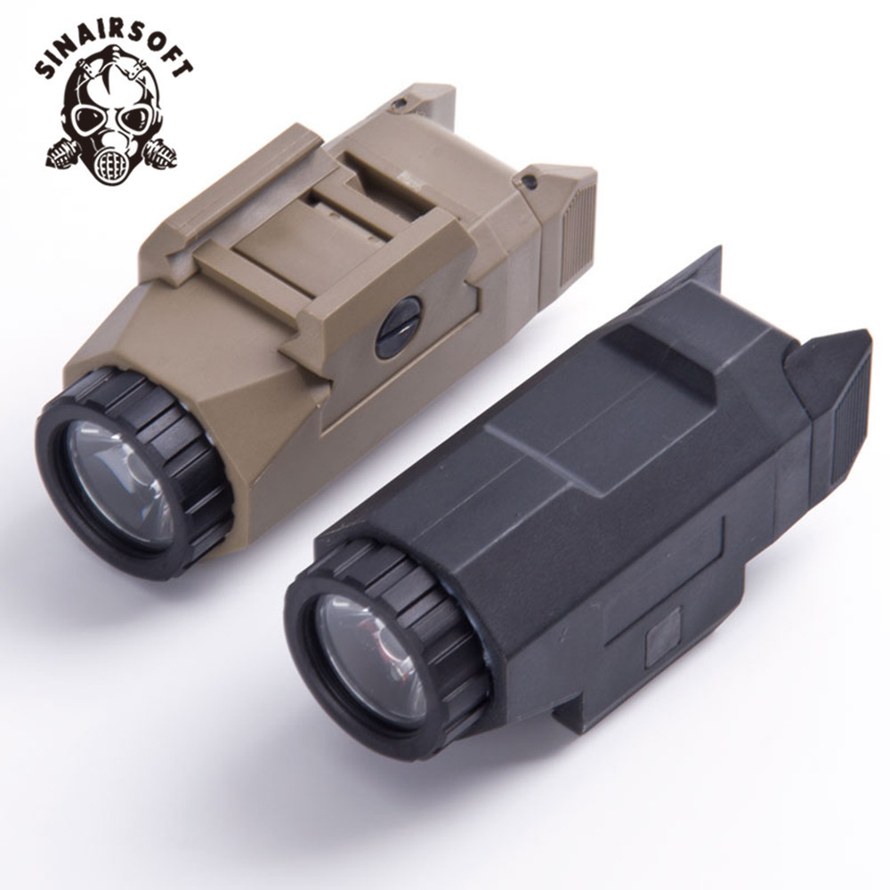 SINAIRSOFT Black APL Weapon Inforce Installation range pistol Flashlight Glock 17 M1911 M9 Hunting Airsoft Tactical Accessories compact wml weapon mounted white light for glock auto pistol 200 lumens tactical hunting apl c