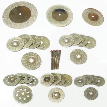 цена на diamond grinding wheel bit diamond cutting disc dremel accessories mini saw blade set rotary tool grinding polishing stone
