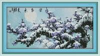 Big Size The purple air comes from the east A fall of seasonable snow gives promise of a fruitful year Cross Stitch Pattern Kits