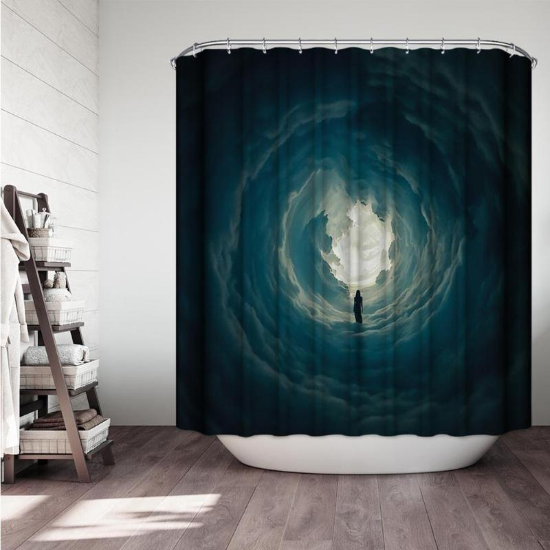 Creative Digital Printing Cactus Shower Curtain Thick Polyester Waterproof Bathroom Curtain Home Bathroom Decoration 180x180cm