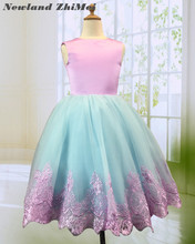 New Arrival Flower Girl Dress with Bow 2018 Multi Colors Tulle Ball Gown Girl Party Gown Dresses Good Quality