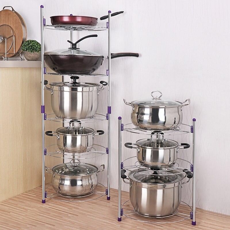 5-camadas de Cozinha/Economia de Espaço de Prateleira Do Banheiro Portátil Pote Bacia Combinatória Diversos Organizador Titulares Racks De Armazenamento Durável