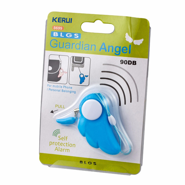 KERUI Self Defence Keychain Alarm Personal Protection Women Security Rape Alarm 90dB Loud Self Defense Supplies Emergency Alarm