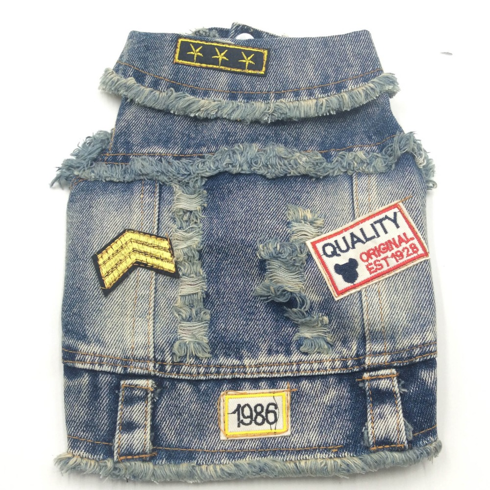 Reasonable New Dog Clothes Blue Denim Jacket Fashion Pet Vest Hooded Clothing For Yorkshire Chihuahua Teddy Dogs Cat Coat Jeans Doggyzstyle Spare No Cost At Any Cost Home & Garden Dog Vests
