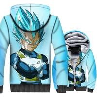 sweatshirt winter super Saiyan Anime Harajuku 3D Print clothes Dragon Ball Z jackets long sleeve hooded 2018 men thick swag coat