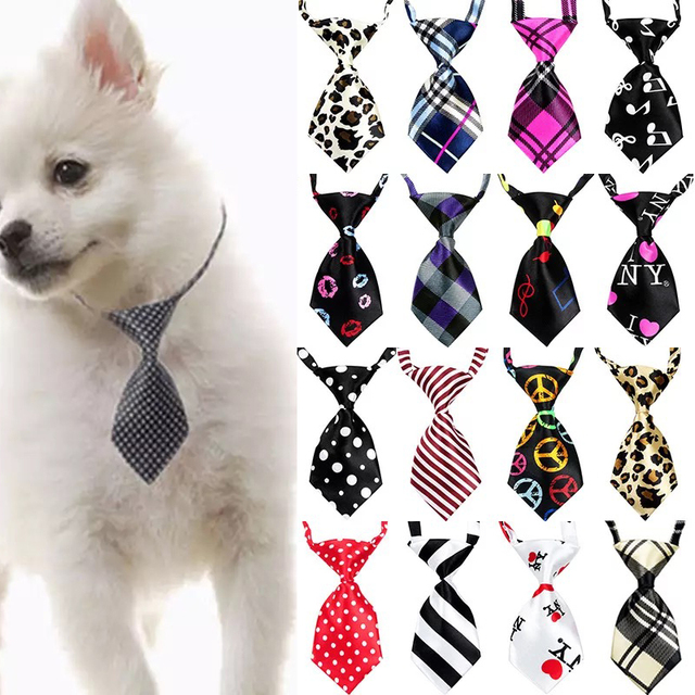 65c4f265edfb 50/100 pcs/lot Mix Colors Pet Cat Dog Tie Puppy Grooming Products Adjustable