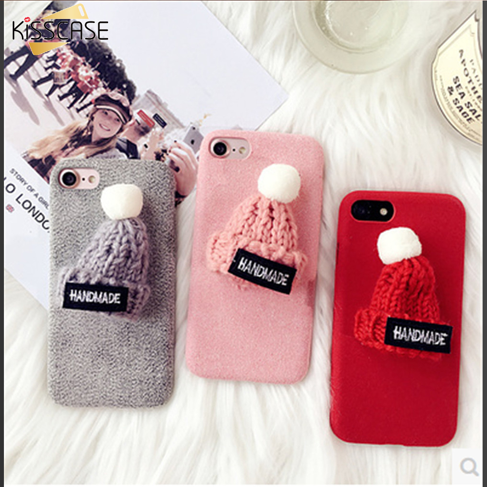 KISSCASE Winter Lovely Fluffy Case For iPhone 7 7 Plus