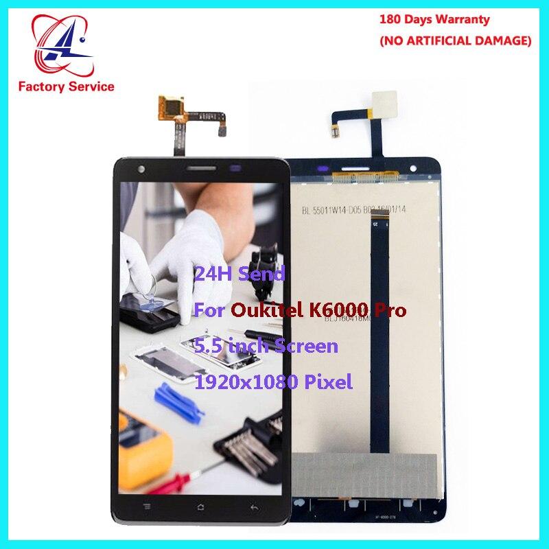 """Pour Original Oukitel K6000 Pro écran LCD + écran tactile numériseur capteur assemblée remplacement 5.5 """"1920x1080 Pixel stock"""