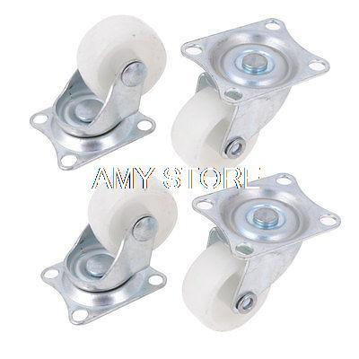 1.2 30mm Single Wheel Swivel Rectangle Plate Plastic Caster White hot sale in stock new 4 pcs practical 1 plastic wheel rectangle top plate fixed swivel caster set