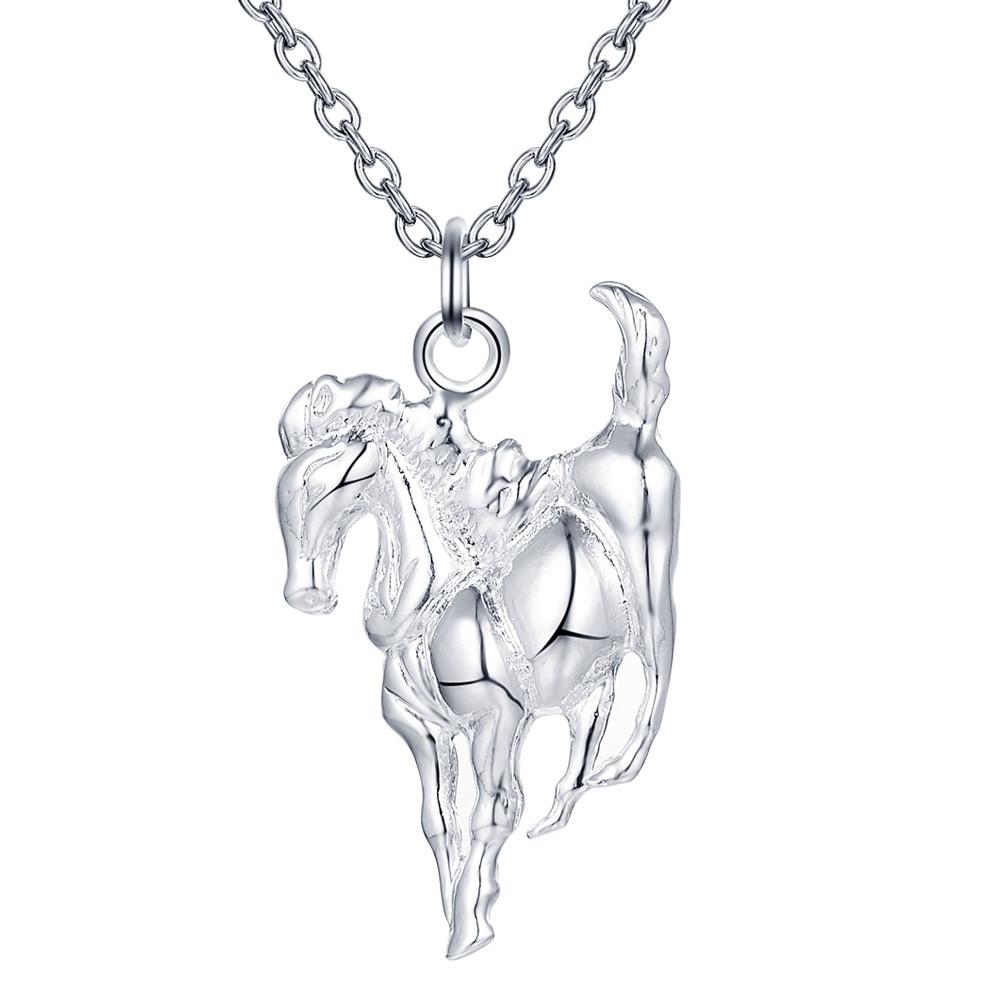 horse shiny lucky wholesale silver plated Necklace New Sale silver necklaces & pendants /JFLMJCLD WVBZGUYM