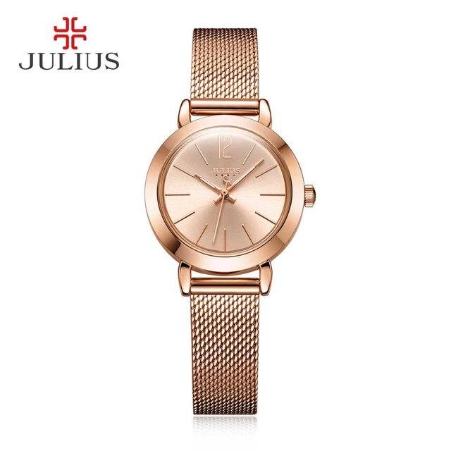 f5ada89ac5b9 Julius Relojes Moda Casual Reloj Del Cuarzo Marca Mujeres de Las Señoras  Vestido Reloj Reloj Mujer