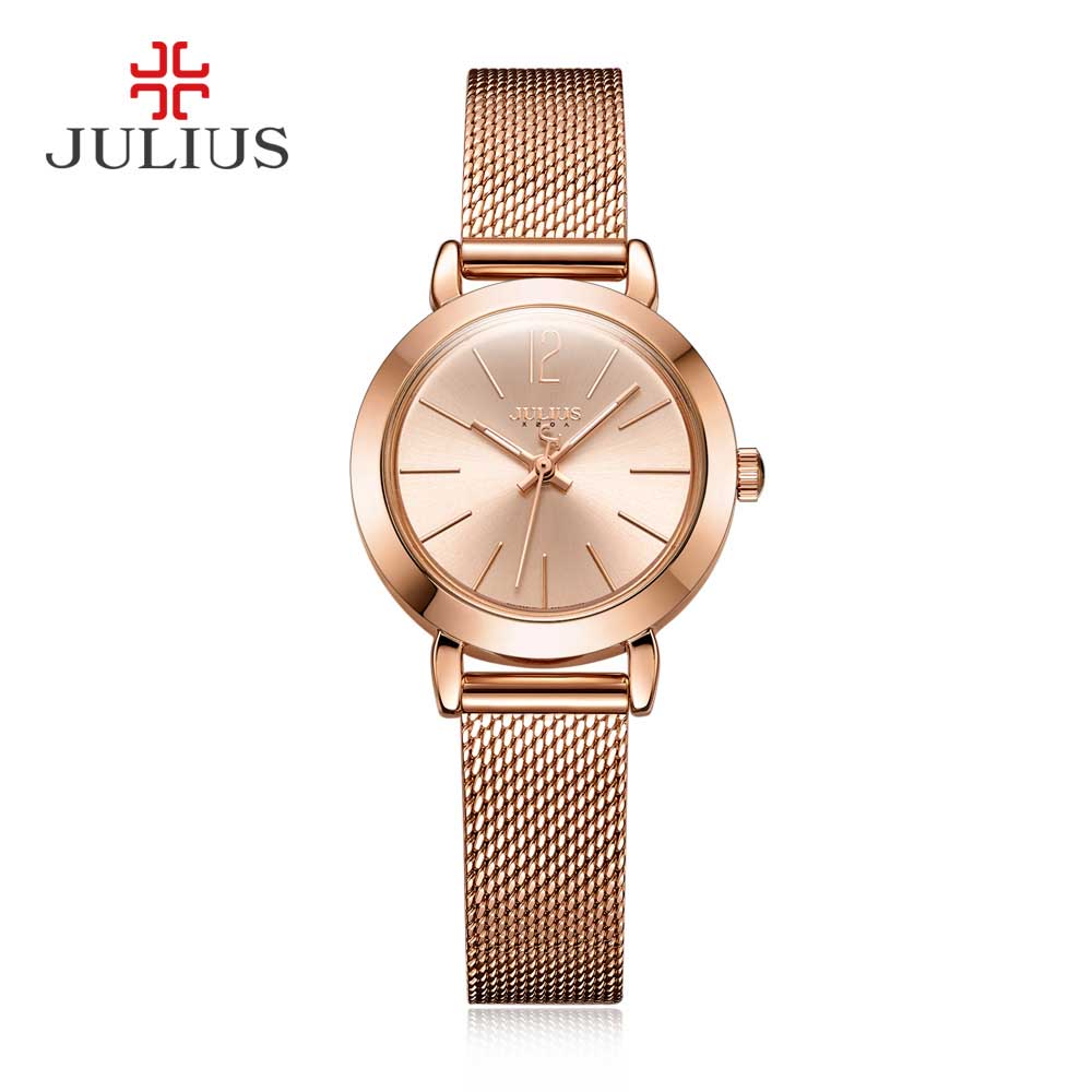 Julius Watches Fashion Casual Quartz Wristwatch Brand Ladies Women Dress Luxury Full Steel Thin Watch Reloj Mujer Clock Female julius luxury brand women watch fashion rose gold watches women fashion casual quartz ladies wristwatch reloj mujer clock female