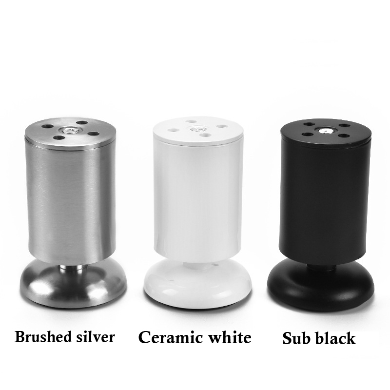 Image 4 - 4pcs/set 6 20cm Height Thicken Adjustable Furniture Legs Feet Stainless Steel Table Bed Sofa Level Feet Cabinet Legs-in Furniture Legs from Furniture