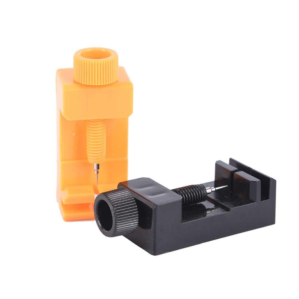 1 pc 2 צבעים חדש מכירת פלסטיק + מתכת להקת שעון קישור להתאים סדק רצועת צמיד שרשרת פין Remover שמאי תיקון כלי קיט