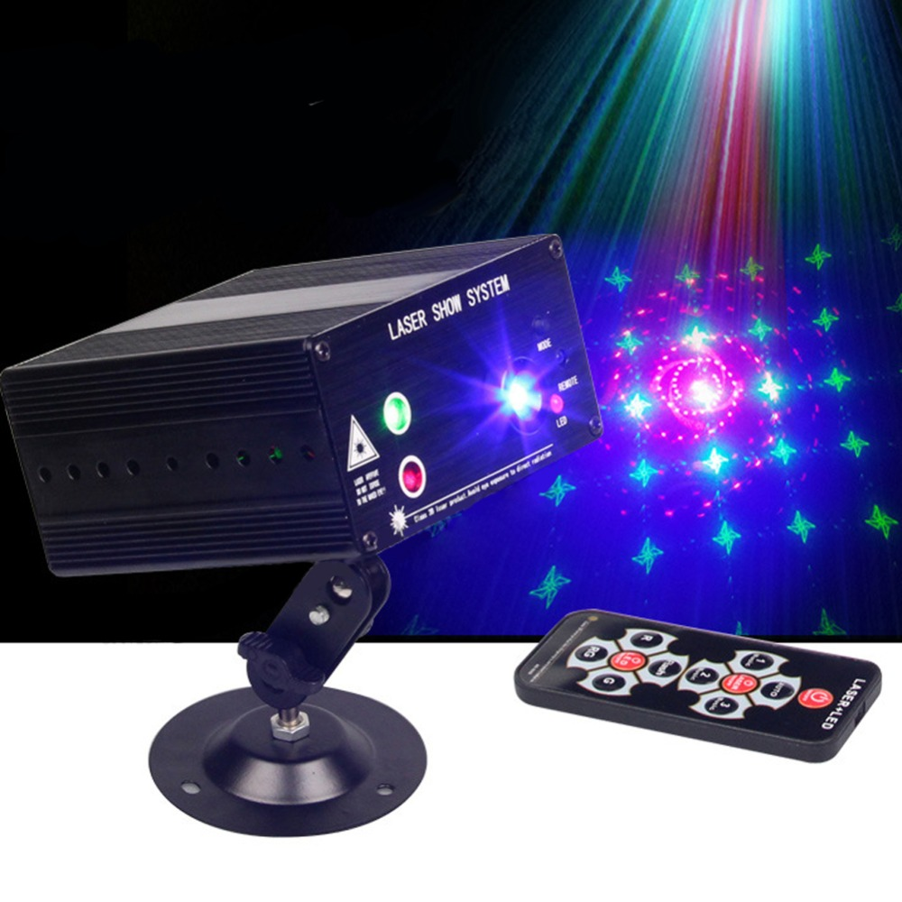 Full Color RGB Laser Stage Light Projector 3W Blue LED Stage Effect Lighting for DJ Disco Party KTV smuxi portable stage light auto voice led laser projector stage lighting effect dj ktv party christmas decor remote control