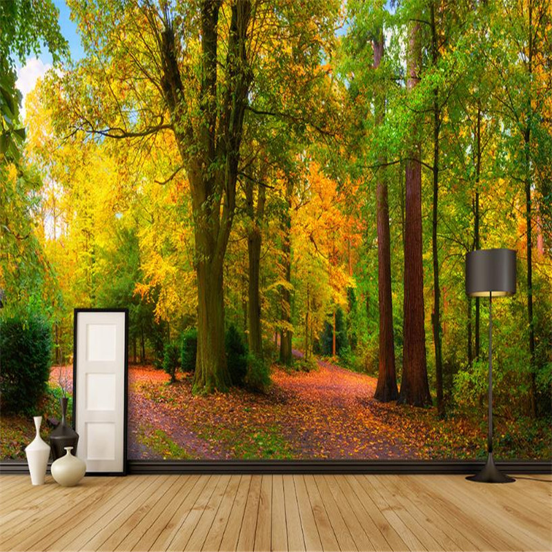 Modern 3D Stereo Custom Photo Wallpaper Forest Nature Wall Mural for Walls Living Room Bedroom TV Background Forest Wallpaper wallpaper for walls 3 d modern trdimensional geometry 4d tv background wall paper roll silver gray wallpapers for living room