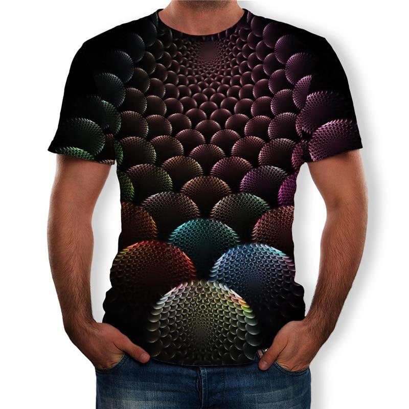 BYWX Men Hipster Short Sleeve Summer 3D Print Western Button Down Shirt