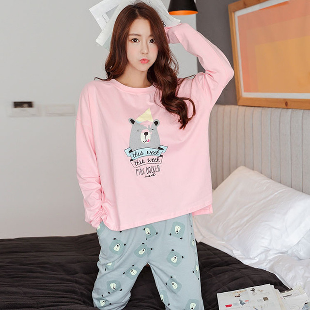 2017 Cotton Princess Women's Spring Winter Sleepwear Pajamas Set Home Clothing Coth Brand Warm Elegant Female Pyjamas