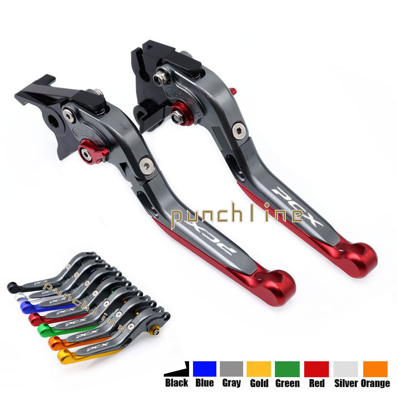 LOGO PCX For HONDA PCX 125 PCX125 PCX150 PCX150 Motorcycle Accessories Folding Extendable Brake Clutch Levers 20 Colors mtkracing for honda pcx 125 150 all years cnc aluminum motorcycle accessories foldable extending brake clutch levers