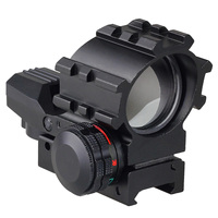 Tactical Holographic 4 Reticles Projected Red Laser Green Dot Reflex Sight Scope 20mm Picatinny Mount For