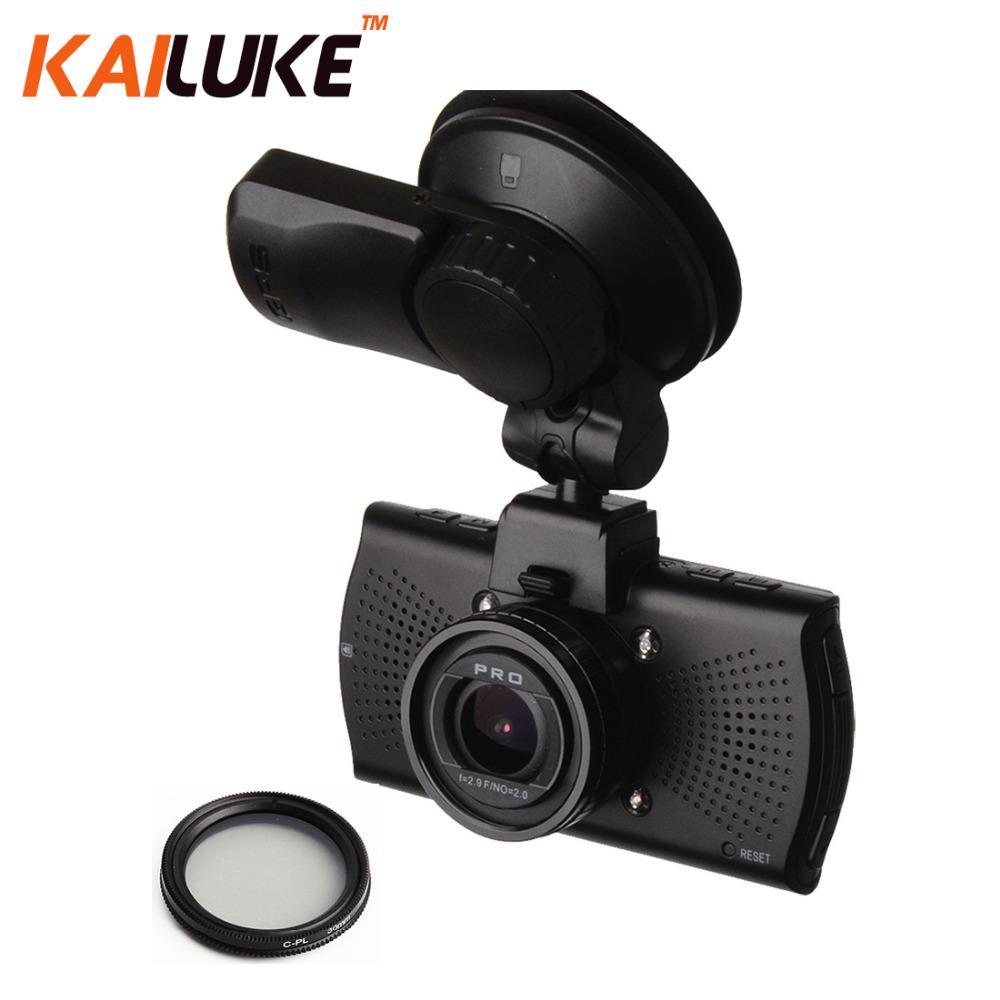 Prix pour Ambarella A7LA70 Voiture Caméra DVR Full HD 1296 P WDR Nuit Vision Dash Cam Auto Vidéo Enregistreur DVR Boîte Noire GPS CPL A7810G Pro