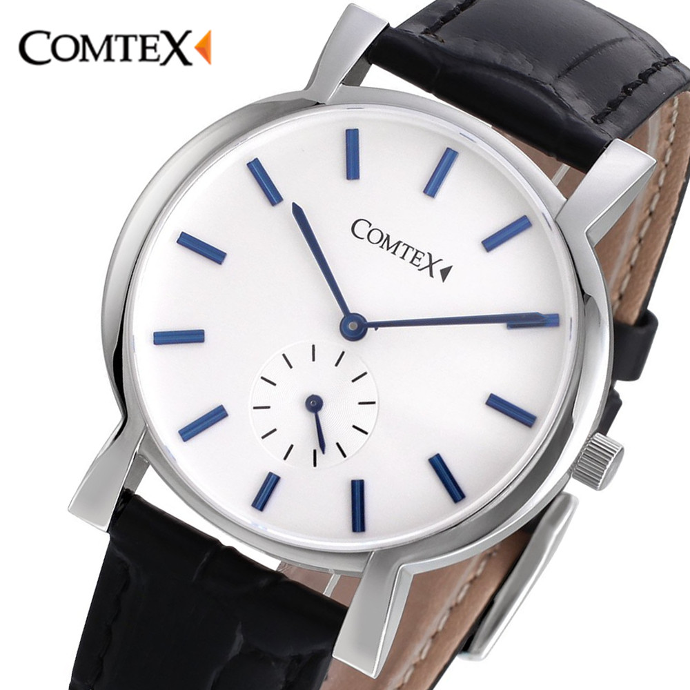 Comtex Watch Men New Simple Fashion Quartz Wristwatches Men Watches Luxury Leather Band Casual Gentlemen clock man Gift relogio new listing men watch luxury brand watches quartz clock fashion leather belts watch cheap sports wristwatch relogio male gift