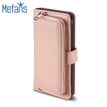 Mefans Combo Card leather case for Samsung Galaxy s8 plus case zipper flip wallet case for Samsung s8 plus case