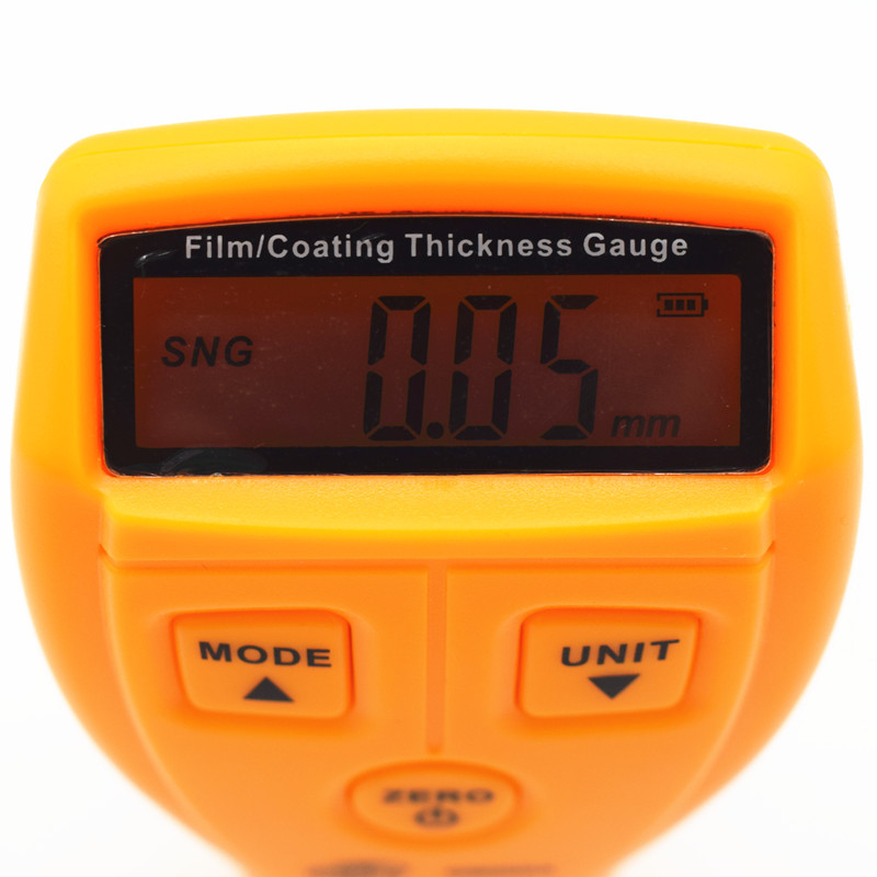 Diagnostico-strumento ad ultrasuoni calibro di spessore della vernice rivestimento calibro di spessore Digitale Automotive Vernice di Rivestimento Ad Ultrasuoni Meter