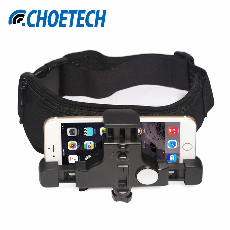 CHOETECH Elastic Waist Belt Strap Mount for iPhone 7 6 Plus Adjustable Cell Phone Holder for