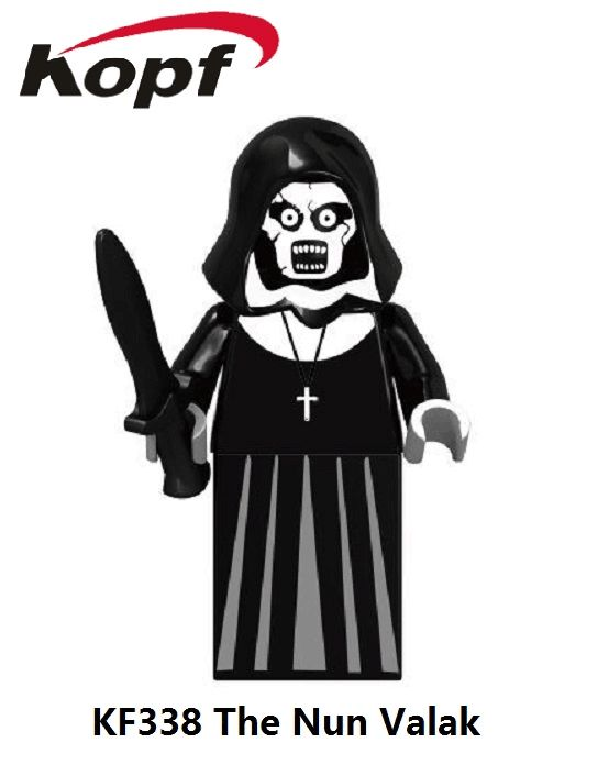 Valak Nun Sinter Ghost of Sparta The Horror Theme Movie The Conjuring Building Blocks Children Gift Toys Drop Shipping KF338
