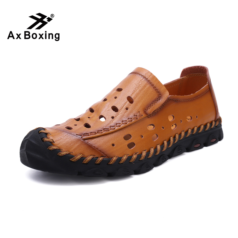 Herrenschuhe Männer Schuhe Männlichen Faulenzer Wohnungen Echtem Leder Komfortable Casual Boot Walking Knitterfestigkeit