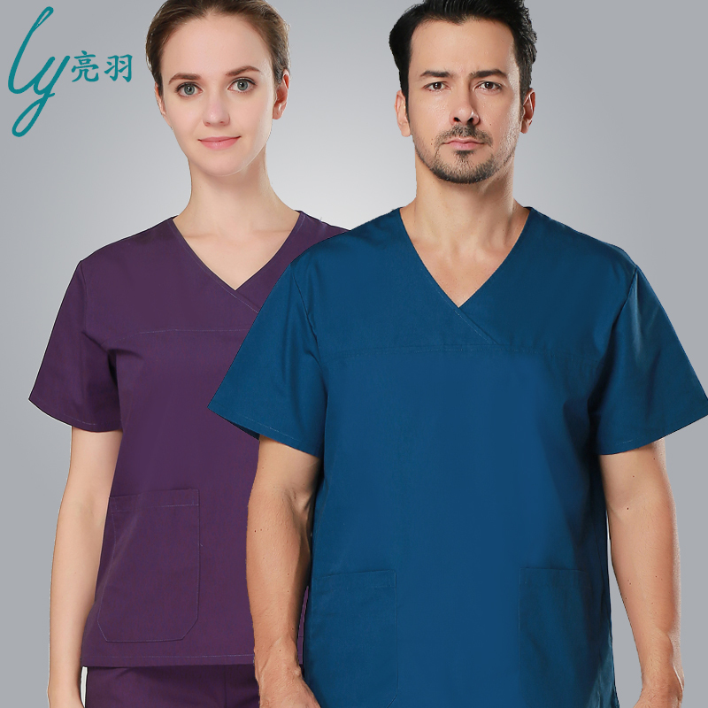 hot sale european washable and durable short sleeve scub suits scub medical unfiorm for male