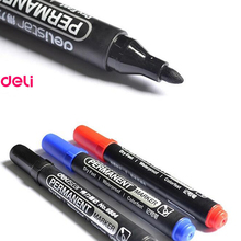 Deli permanent waterproof round toe Instantly dry graffiti oil ink sharpie paint colored marker pens for tires logistics mark