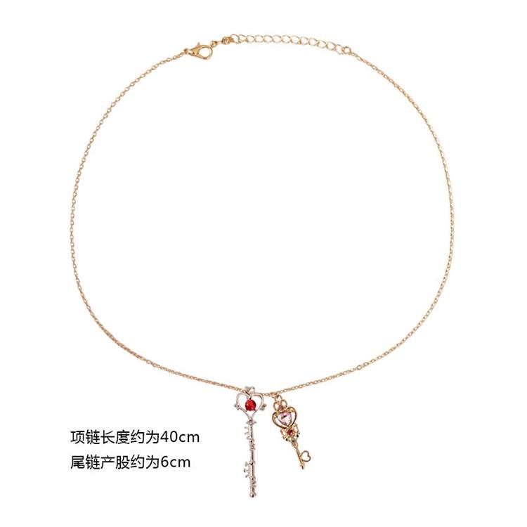 Аниме Сейлор Мун любовь палочка Кристалл косплей ожерелье девушка аксессуары симпатичный реквизит - Цвет: as photo