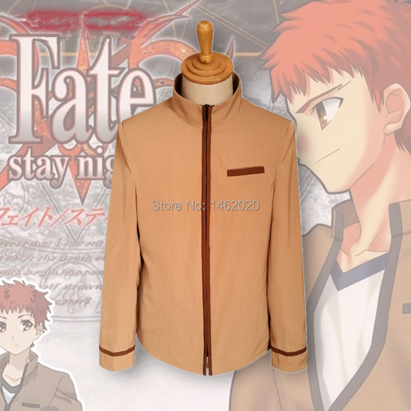Anime Fate Stay Night Unisex Cosplay Costume Shirou Emiya Jacket Coat Hoody New School uniforms outerwear