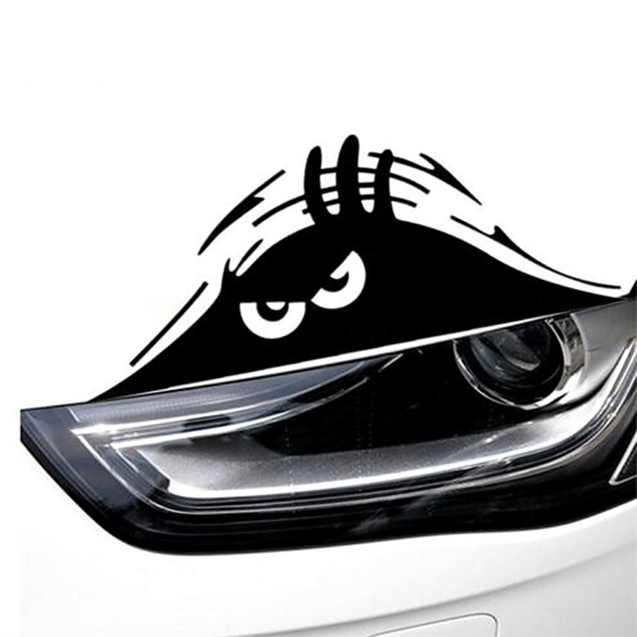 Motorfiets sticker Mode Grappige Gluren Monster Auto Sticker vinyl sticker versieren sticker auto styling