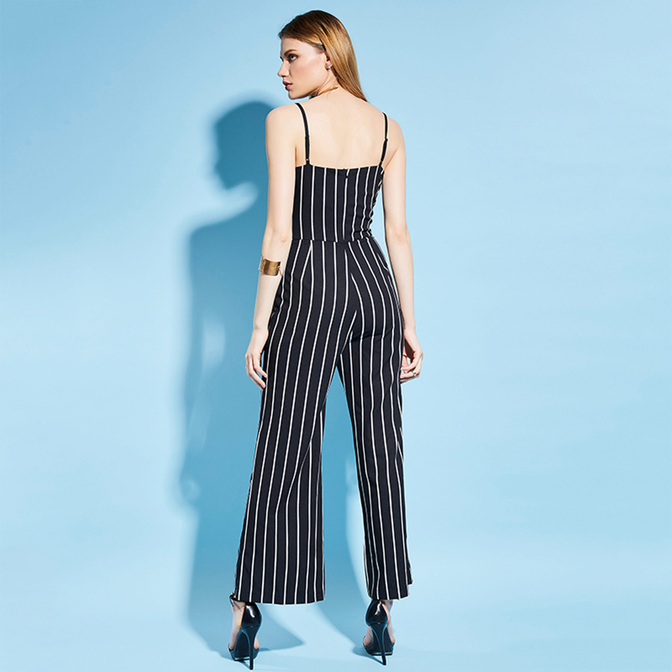 HTB1JBzKfOAKL1JjSZFoq6ygCFXaS - Women Stripe Rompers Long Pants Jumpsuit JKP390