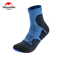 Naturehike Summer Thicker Coolmax Camping Sports Socks Women Men Knee High Hiking Quick Drying Breathable Running