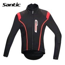 Santic Men Cycling Jacket Bike Winter Fleece Cycling Jackets Windproof Cycling Clothes Ciclismo Maillot Fit for 0-8 M5C01062R