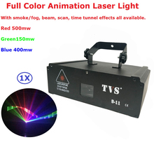 EU/US Plug Newest Laser Stage Lighting 1W RGB Full Color Animation Lights For Indoor Christmas Holiday  Decorations