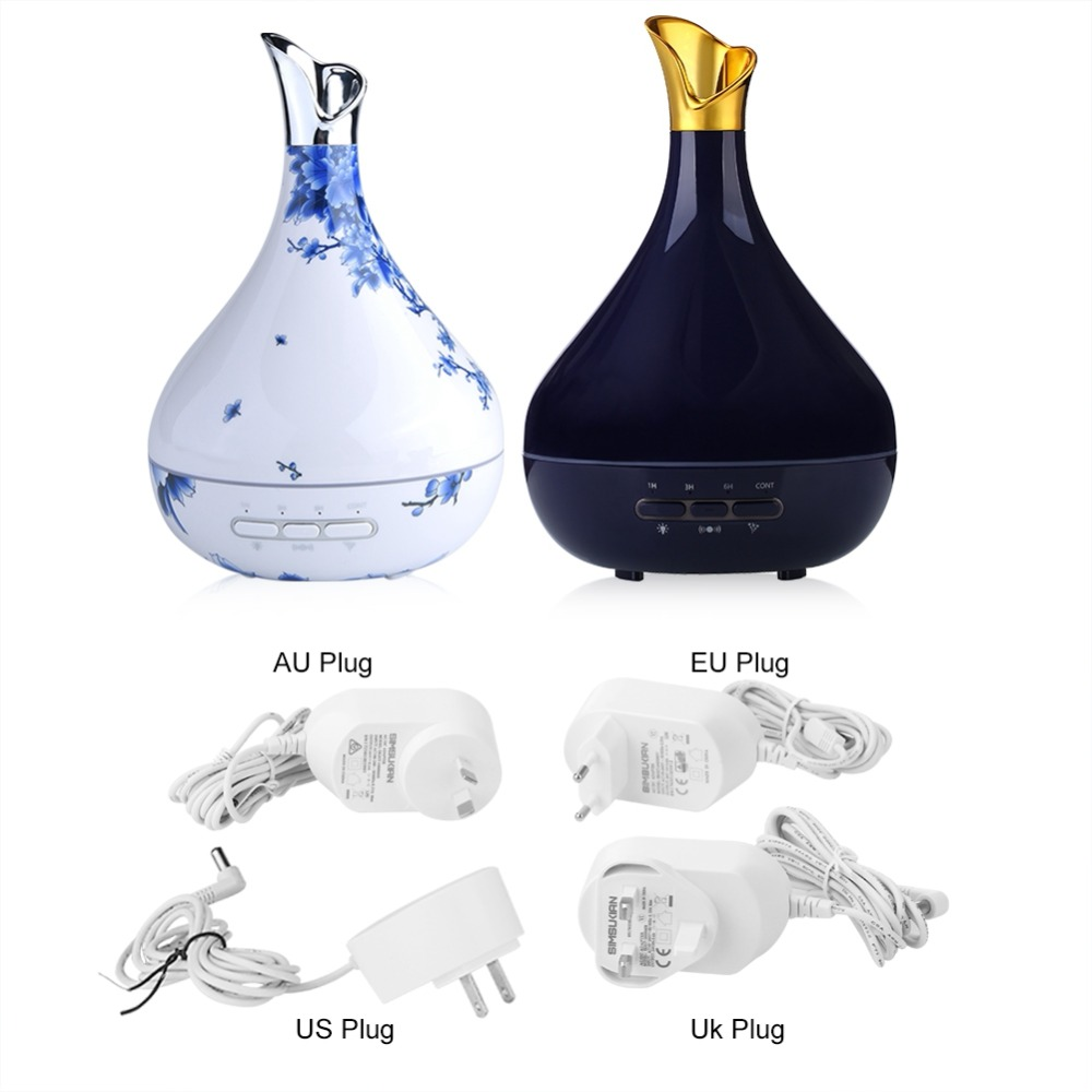 300ml LED Ultrasonic Humidifier Changing Essential Oil Aroma Diffuser Ultrasonic Humidifier Air Purifier 7 Color