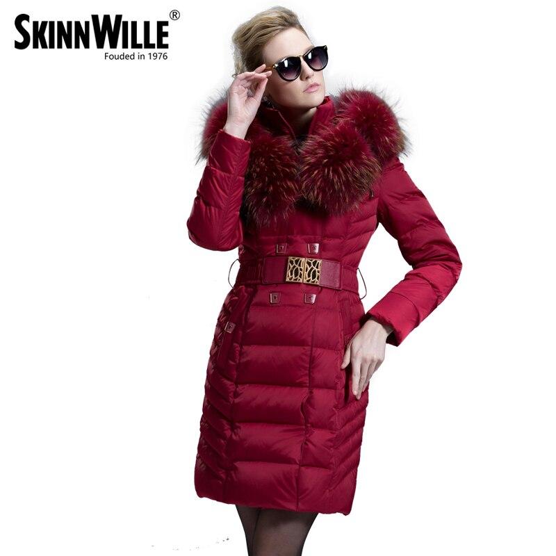 2018 mode de luxe grand col de fourrure de haute qualité moyen-long manteau femme épaississement des femmes survêtement femelle