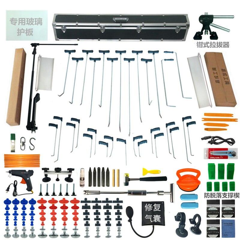 Kit d'outils PDR crochets tige de poussée lampe à LED panneau de réflecteur panneau de réflexion LED lumière ensemble d'outils de réparation de Dent