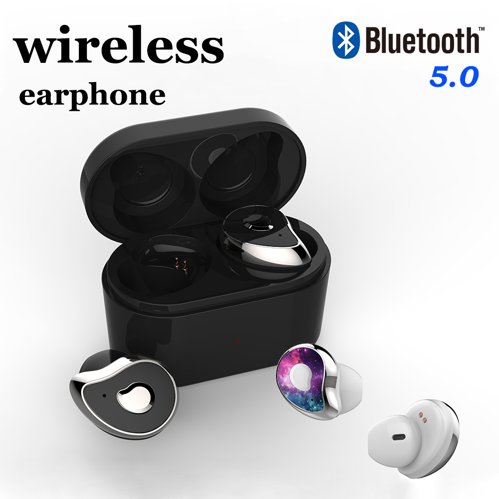 TWS Mini Wireless Bluetooth Earphone 5.0 Half In Ear Earbuds Bluetooth Sport Headphone Stereo Headset For IOS Android Phone