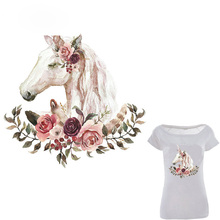 Iron On Transfer Unicorn Pathes Heat Print T-shirt Dresses Jeans A-level Washable Stickers Children Gift